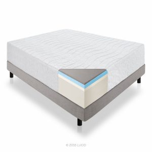 LUCID 16-Inch Plush Memory Foam and Latex Bamboo Mattress - bamboo mattress